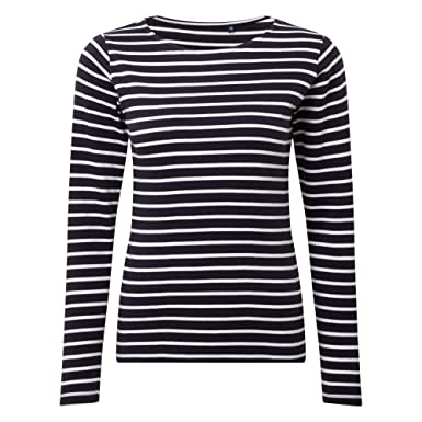 5bf1c3b5 Asquith Fox Asquith & Fox Women's Marinière Coastal Long Sleeve Tee Polo  Shirt: Amazon.co.uk: Clothing