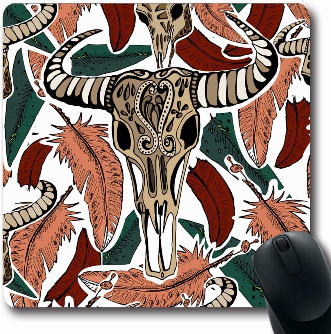 Alfombrillas de ratón para computadoras Dibujado Cráneos de ...