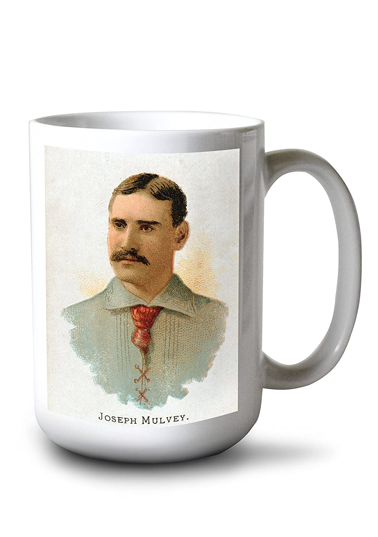 Philadelphia Quakers – Joseph Mulvey – 野球カード 15oz Mug LANT-3P-15OZ-WHT-22952 B077S2FQMY  15oz Mug