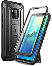 SUPCASE Huawei Mate 20 Pro Case, Full-Body Rugged Holster Case with Built-In Screen Protector for Huawei Mate 20 Pro/LYA-L29 (2018 Release), Unicorn Beetle Pro Series - Retail Package (Black)