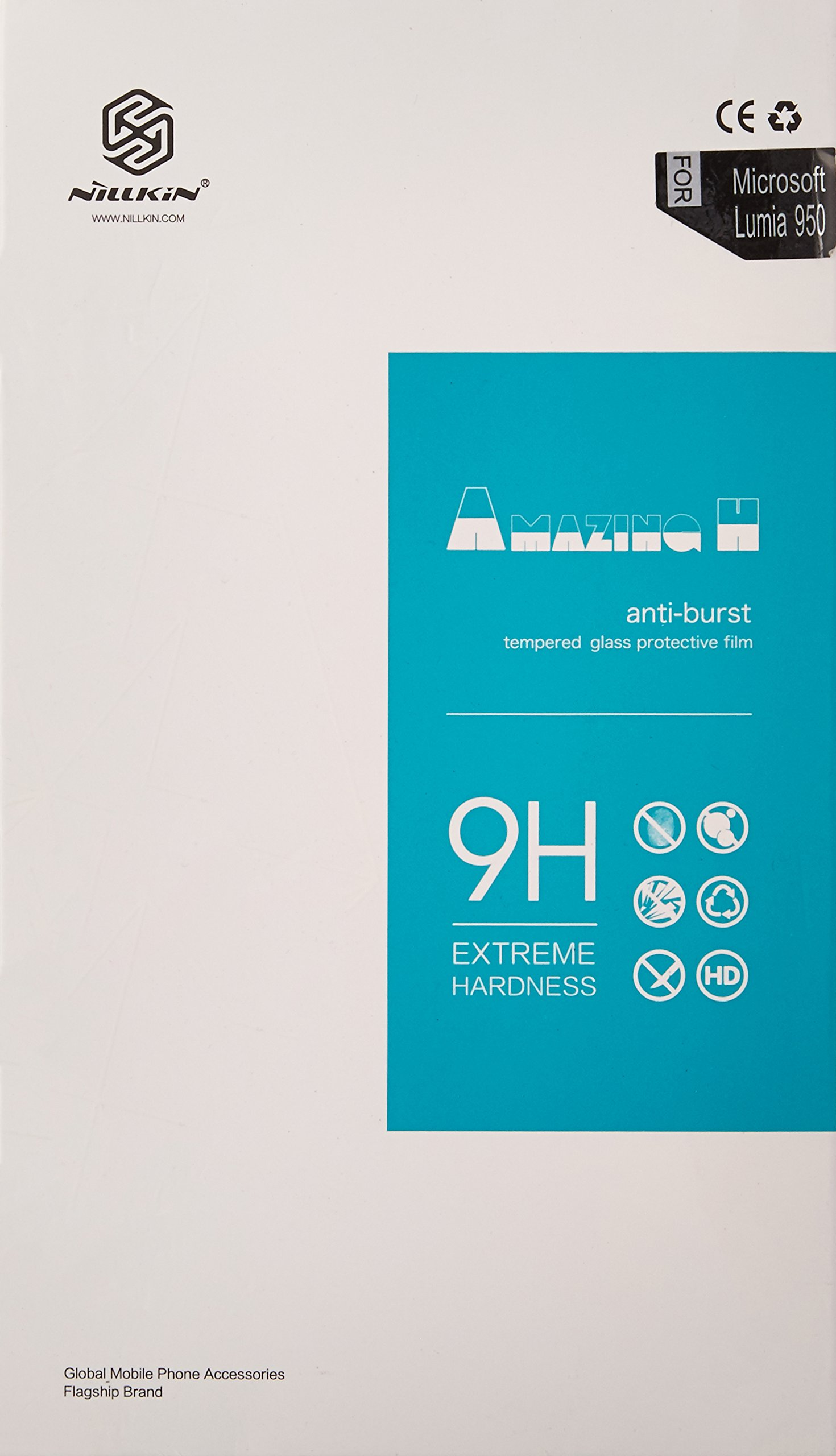 Nillkin Screen Protector for Microsoft Lumia 950 - Retail Packaging - H Anti Transparent
