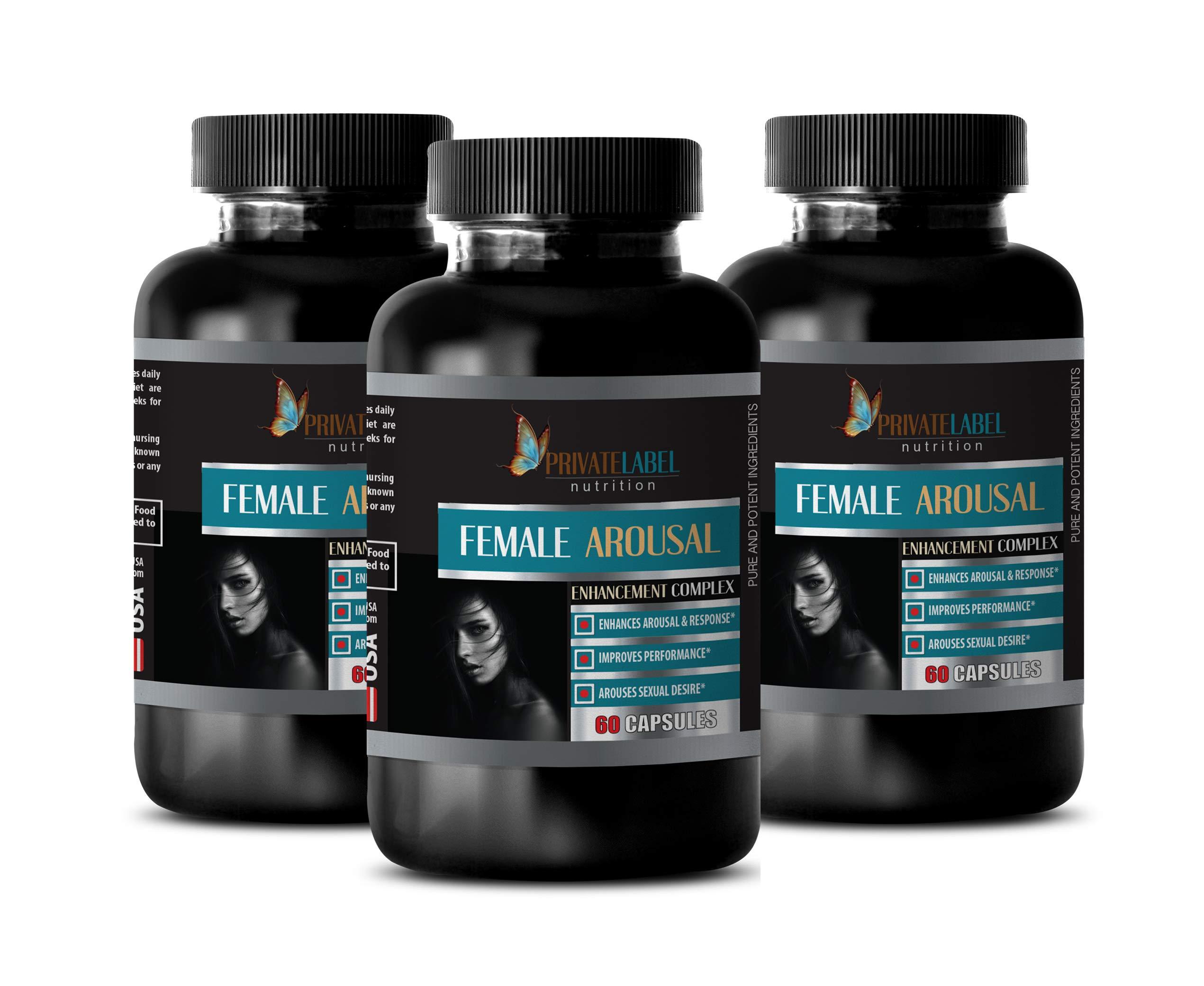 Women libido Booster - Female Arousal Enhancement Complex - Improves Performance - Muira puama Women - 3 Bottles 180 Capsules