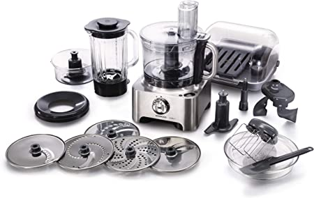Kenwood FPM810 Robot de cocina con accesorios, 1000 W, 1.6 L, tritán, metal, 8 velocidades, color metálico: Amazon.es: Hogar