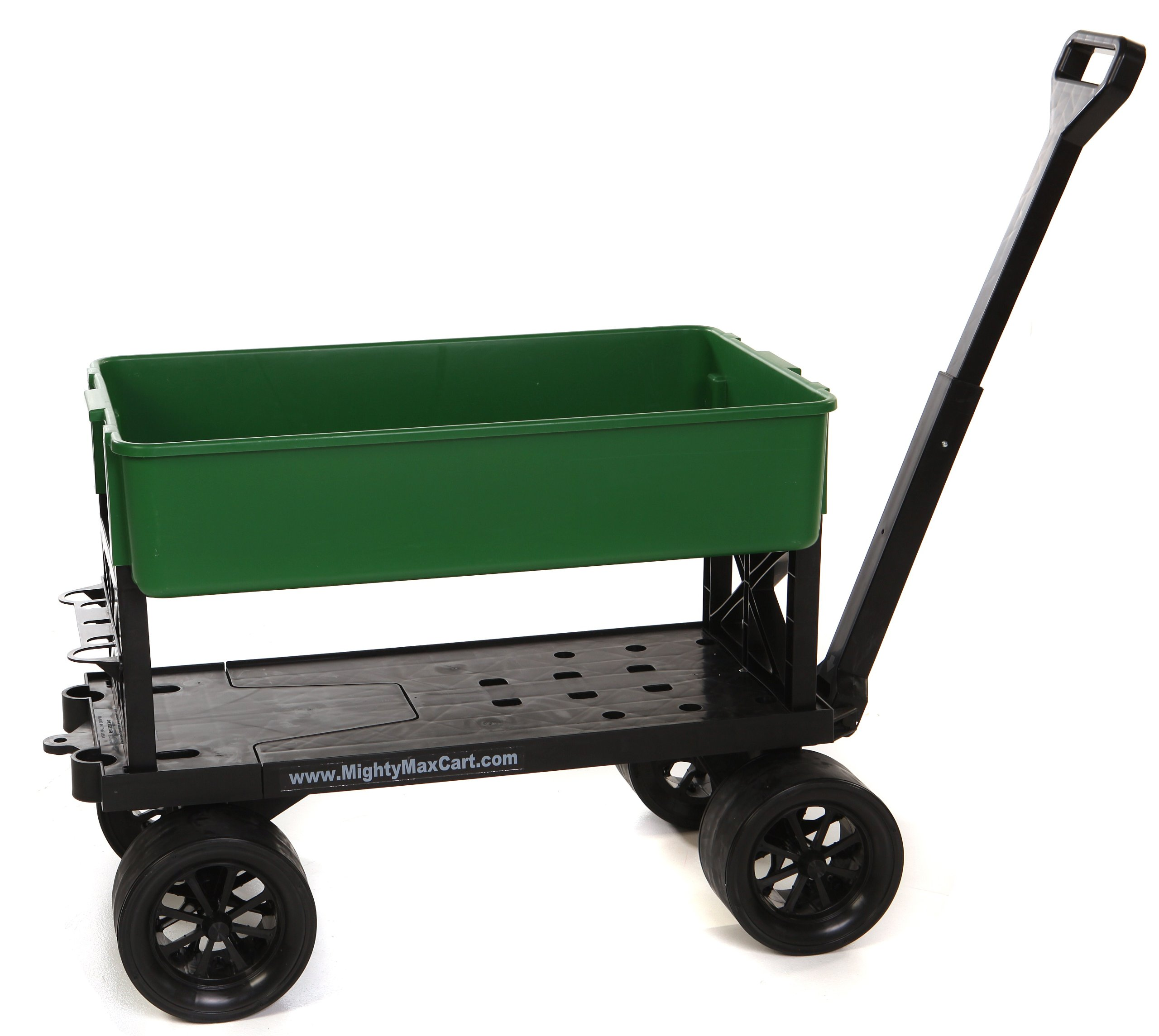 Mighty Max Cart All-Purpose Utility and Garden Cart with Green Tub, 400 Lb Capacity