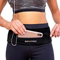 Build & Fitness YKK Zipper Running Belt, Fully Adjustable Waist with Key Clip – Slim, Comfortable – Fits All Phones…