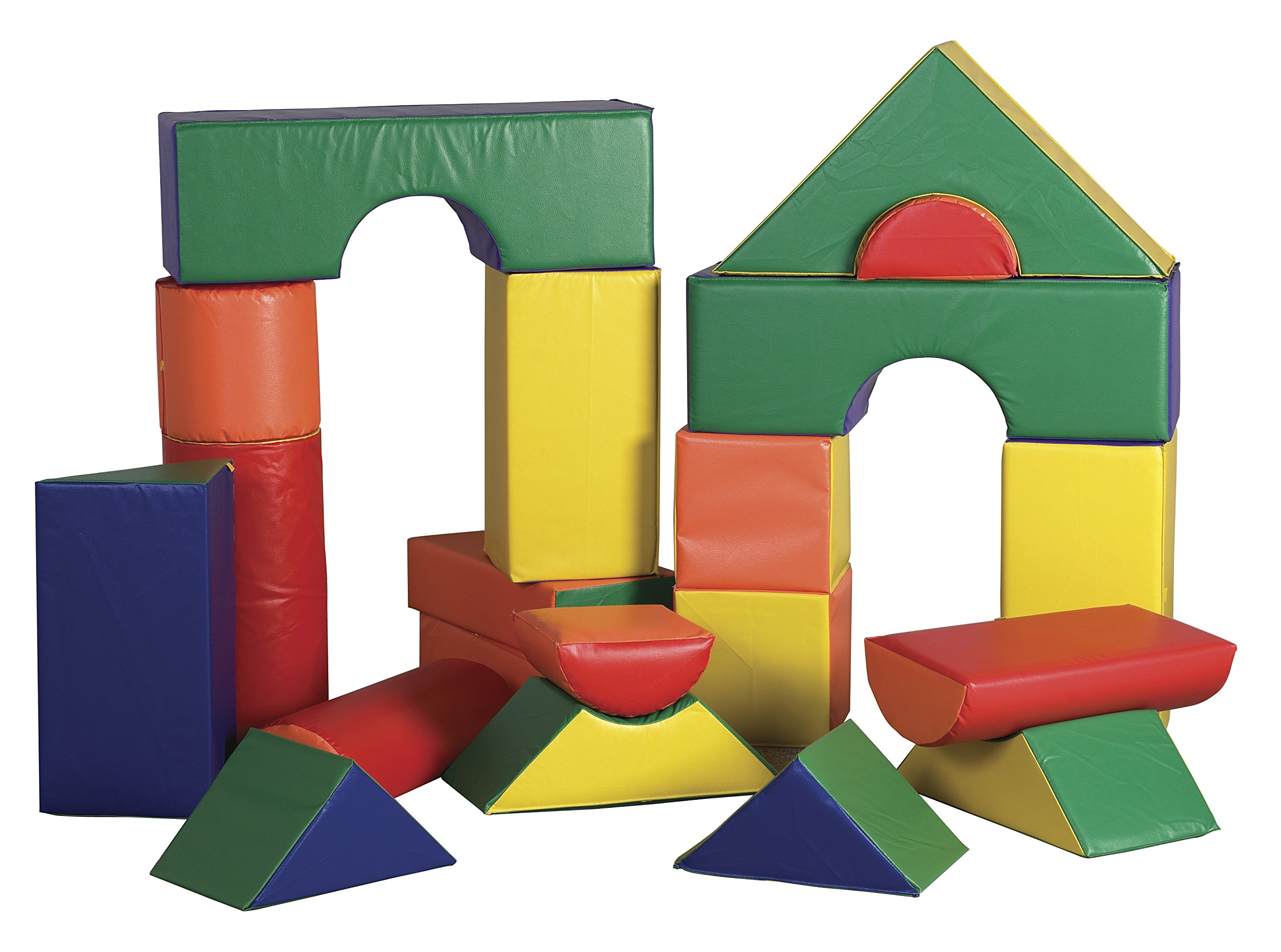 ECR4Kids Softzone Jumbo Play Soft Blocks (21-Piece)