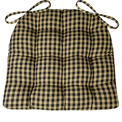 amazon com barnett products dining chair pad with ties checkers 1