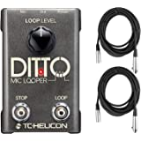 TC Helicon Ditto Mic Looper Pedal + (2) 20ft XLR Cables Bundle