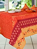 Calitex BASTIDE Nappe rectangulaire Polyester Orange 150 x 300 cm