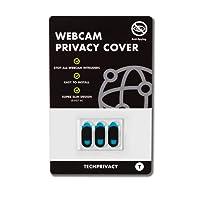 Cache Webcam par TechPrivacy (lot de 3) - Cache pour Webcam ultra fin - Adaptable iPad, PC portables, Macbook Pro, Mac, Macbook air, iMac, Dell, Lenovo, HP et beaucoup plus. Protège votre vie privée.