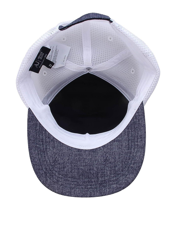 Armani Jeans Gorra A6414-S9 R5 Azul/Blanco 56 cm: Amazon.es: Ropa ...