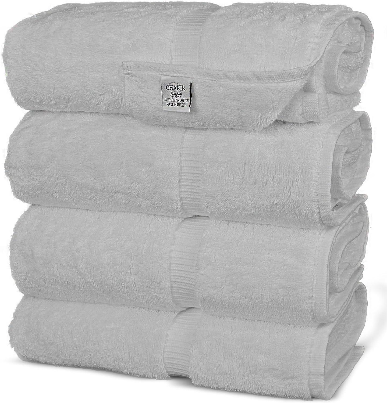 Bath Towel Chakir Turkish Linens Turkish Cotton Luxury Hotel /& Spa Bath Towel Aqua Set of 4