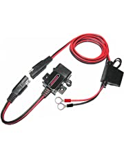 MOTOPOWER MP0609A 3.1Amp Motorcycle USB Charger Kit SAE to USB Adapter Bike Phone GPS USB Charger