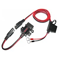 MOTOPOWER MP0609A 3.1Amp Étanche Moto Chargeur USB Kit SAE à USB Adaptateur pour Charger Le téléphone Mobile et GPS