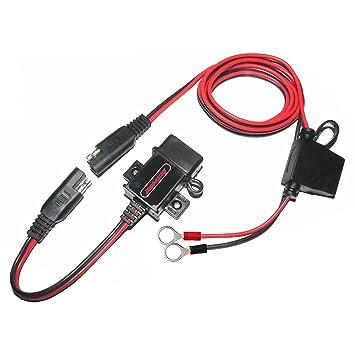 MOTOPOWER MP0609A 3.1Amp impermeable motocicleta cargador USB Kit SAE a USB adaptador Cargador de teléfono