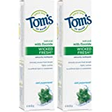 Tom's of Maine Natural Wicked Fresh Fluoride Toothpaste, Natural Toothpaste, Toothpaste, Cool Peppermint, 4.7 Ounce, 2…