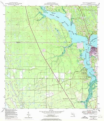 Amazon Com Yellowmaps Palm City Fl Topo Map 1 24000 Scale 7 5 X