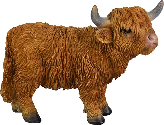 Highland Cattle Vivid Arts Garden Ornament Indoor//Outdoor