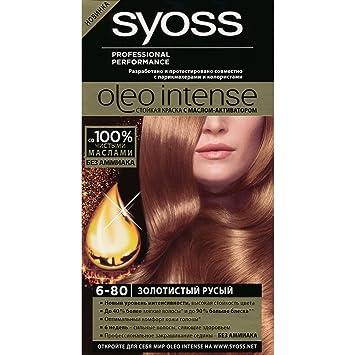 Amazon.com   Syoss Oleo Intense Permanent Intensive Oil Color (6-80  Hazelnut Blond)   Beauty a550d16e05b