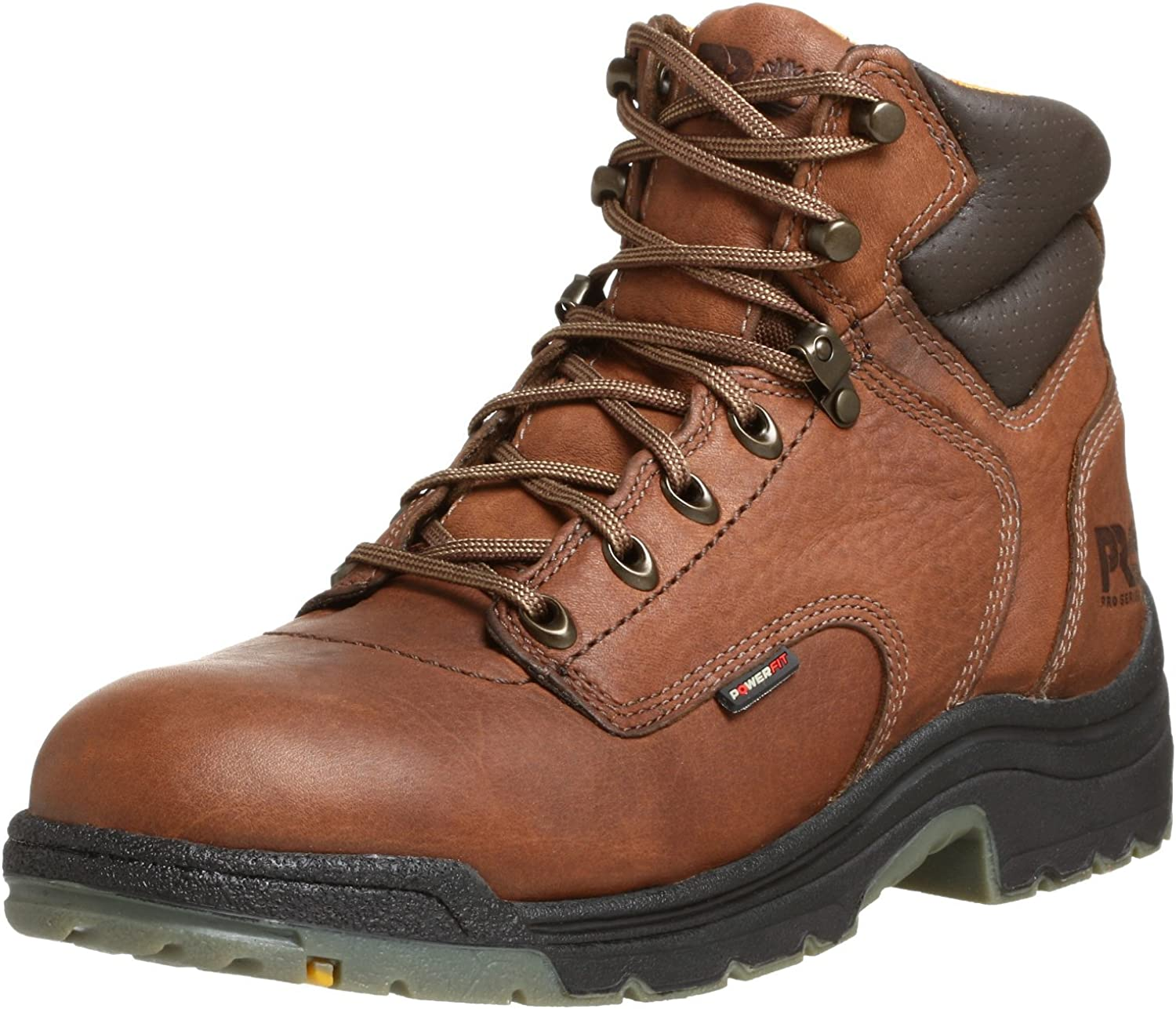 """Timberland PRO mens Titan? 6"""" Soft Toe industrial and construction shoes, Coffee/Brown, 8.5 US: Shoes"""