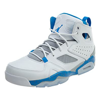 274b30884b900c Image Unavailable. Image not available for. Color  Jordan Mens Flight Club  91 White Blue Wolf Grey ...