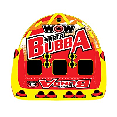 WOW World of Watersports, Big Bubba Hi Visibility Towable Tube Deck Seat, Front and Back Tow Points, 1-3 Riders : Sports & Outdoors