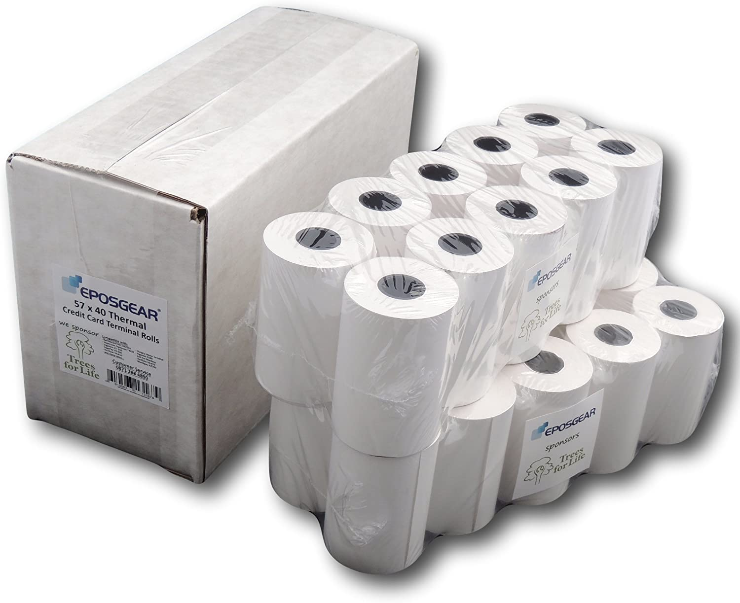 57 x 40 High Quality Thermal Credit Card Rolls 5 Rolls