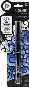 Spectrum Noir Blend Triblend Blendable Alcohol Marker 3 Colours in 1 Pen-True Blue