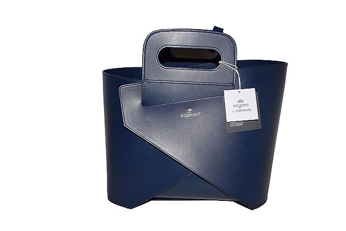 3be4a7e6620f58 Borsa Pomikaki Origami Medium col.blu con manici corti: Amazon.co.uk:  Clothing