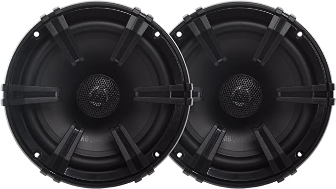 MB Quart DK1-116 Discus 2-Way Car Coaxial Speaker System with 0.75-Inch Aluminum Dome Tweeter on Silk Surround Set of 2 6.5-Inch