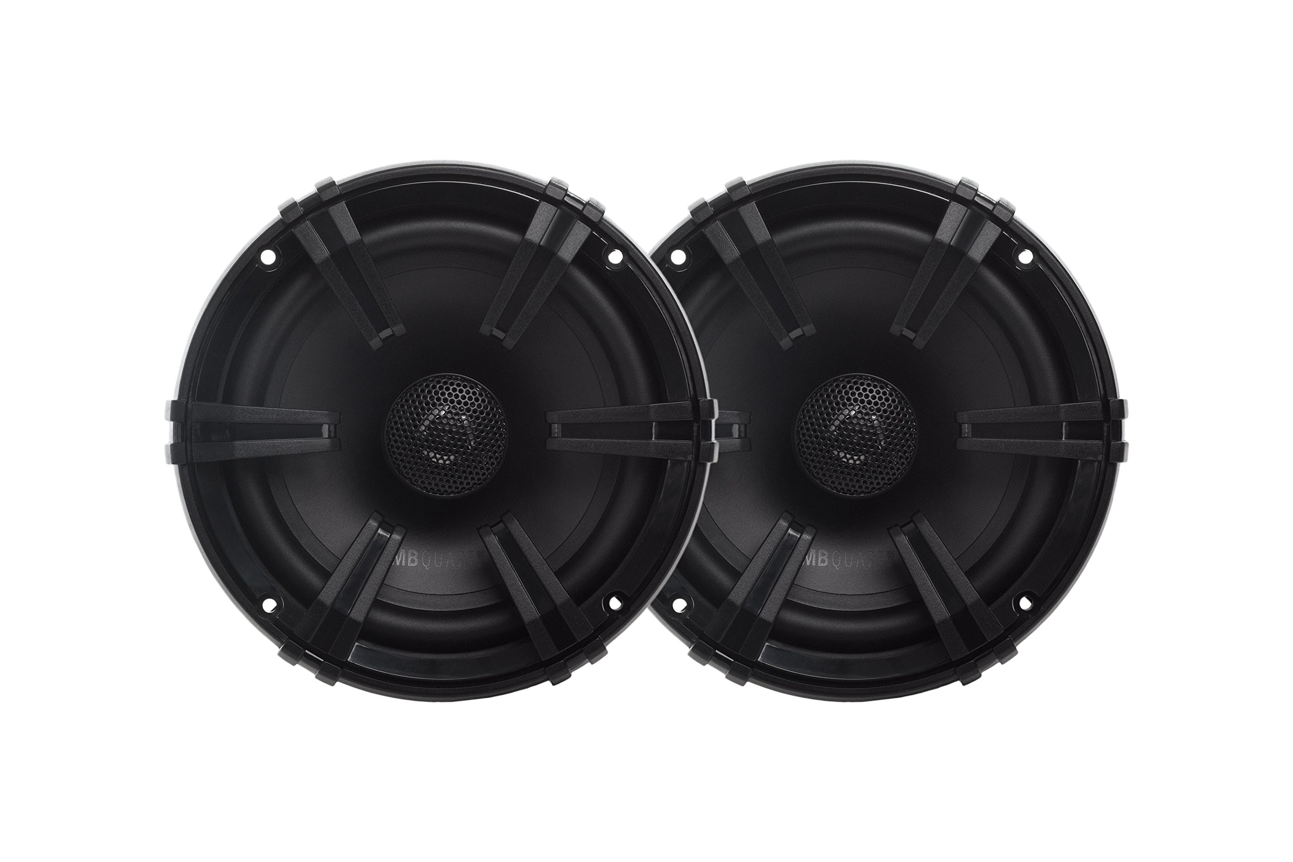 MB Quart DK1-116 Discus 2-Way Car Coaxial Speaker System with 0.75-Inch Aluminum Dome Tweeter on Silk Surround, 6.5-Inch, Set of 2