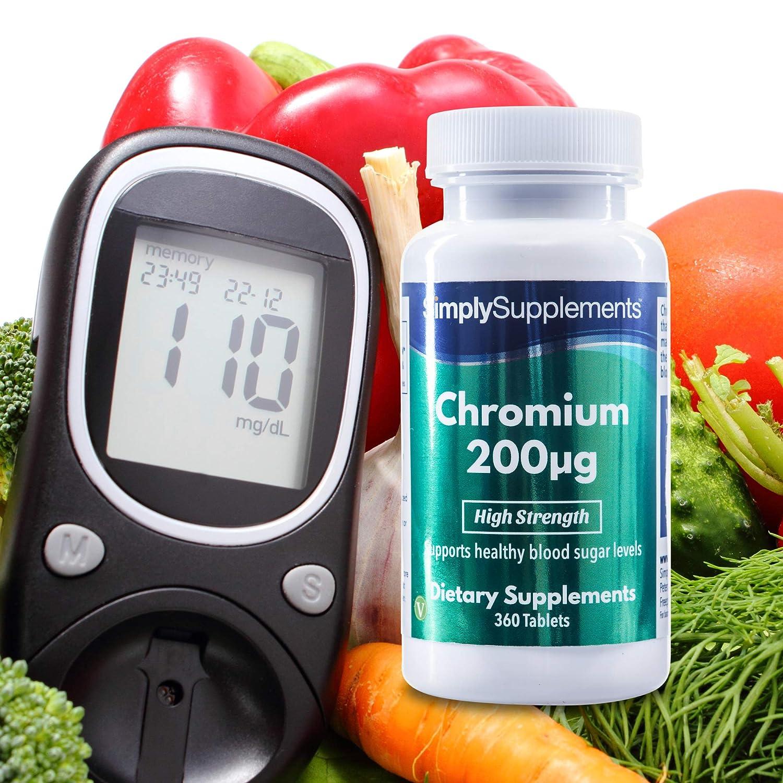 Cromo 200µg - 360 Comprimidos - 1 año de suministro - Picolinato de cromo - SimplySupplements: Amazon.es: Salud y cuidado personal