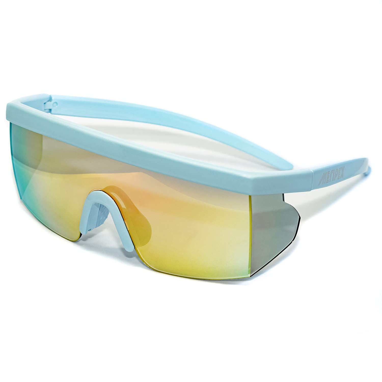 cbd85ad07c09a Amazon.com  Meripex Apparel Unisex Sport Retro Vintage Mirrored Sunglasses  cheaper than Pit Vipers Halloween (Blue)  Clothing