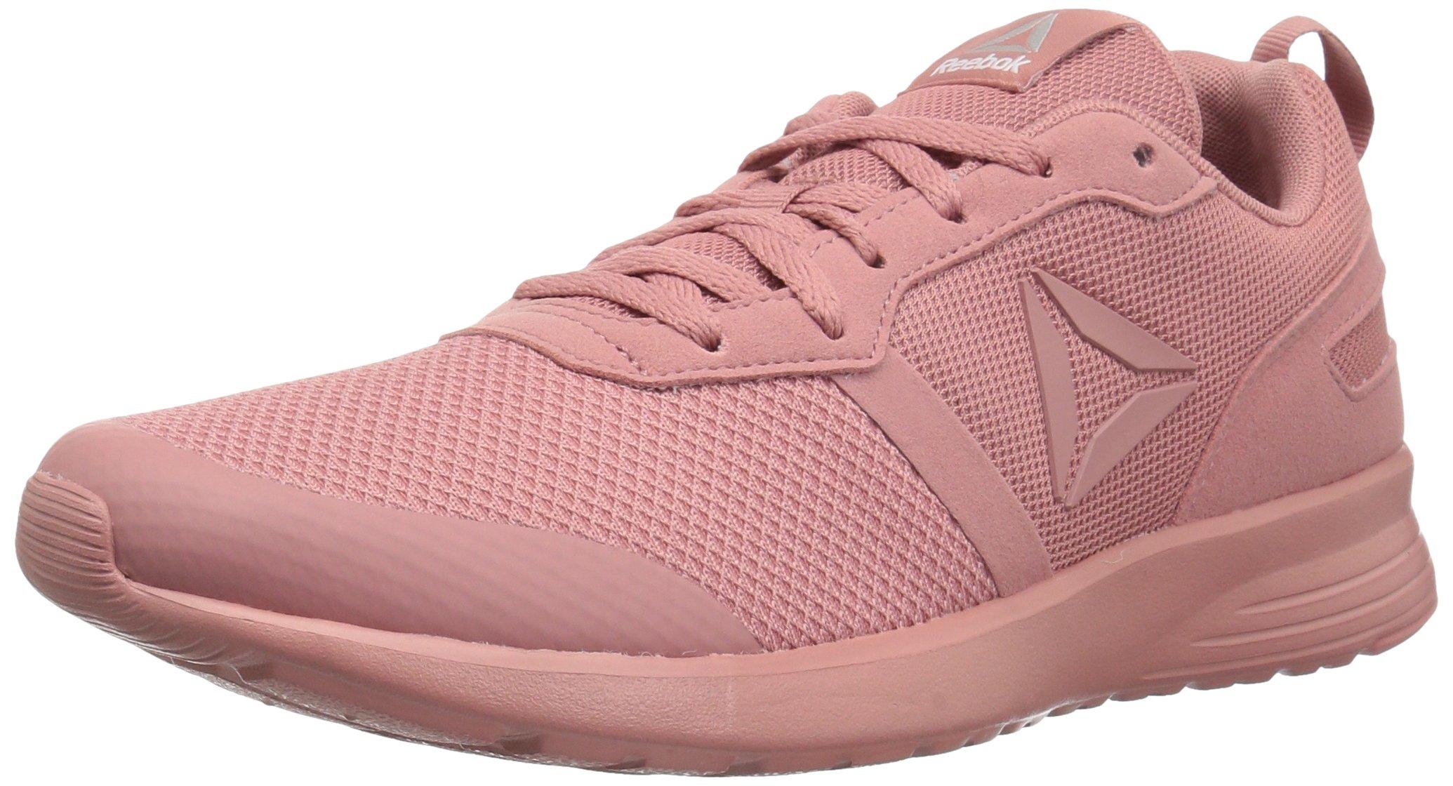 Reebok Women's Foster Flyer Track Shoe,Sandy Rose/White/Matte Silver,9 M US