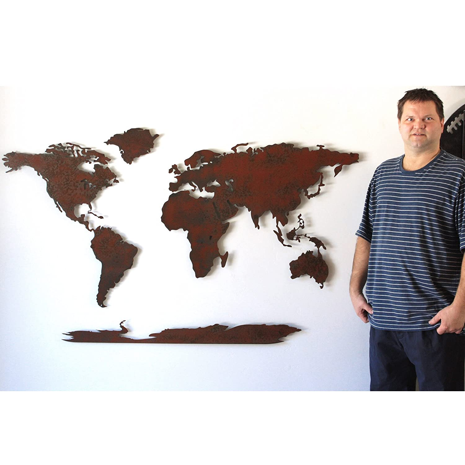 Amazon 30 x 50 inch world map metal wall art handmade amazon 30 x 50 inch world map metal wall art handmade choose your patina color handmade gumiabroncs Images