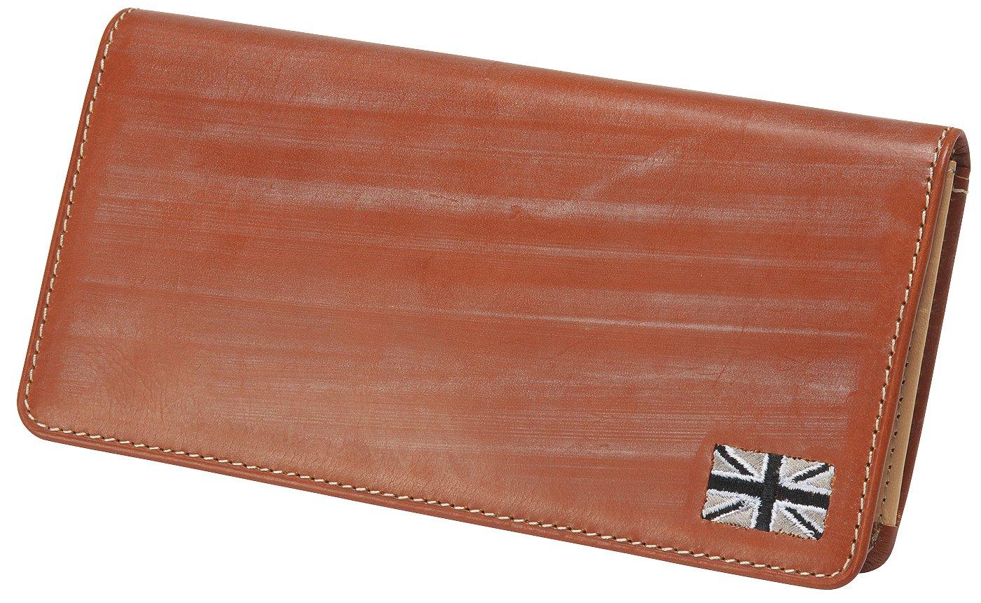[ゴルベ] 英国メトロポリタンブライドルレザー長財布(名入れ無料) B01N44COBP [名入れ]ロンドンブラウン/ユニオンジャック [名入れ]ロンドンブラウン/ユニオンジャック -