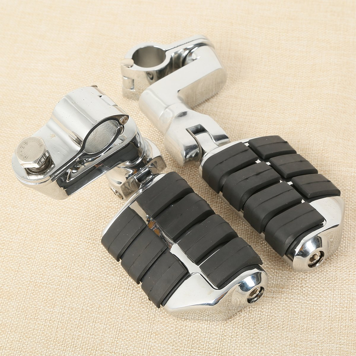 XFMT 7//8 1Engine Guard Front Foot Rest Foot Pegs Compatible with Honda GoldWing GL1500 GL1100 GL1200 GL1800 2001-2012