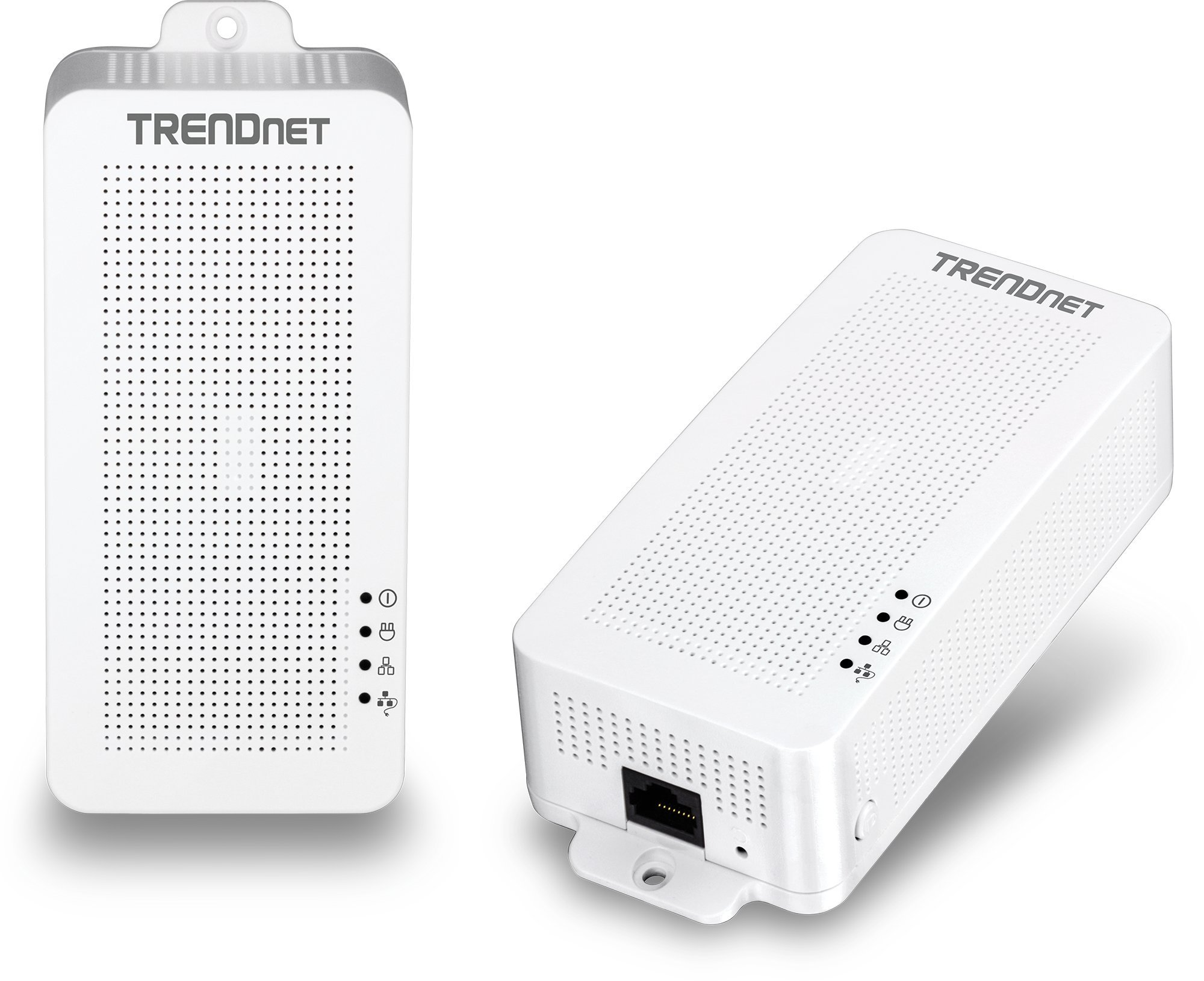 TRENDnet Powerline 200 AV PoE+ Adapter Kit, Output Port Supports PoE, 15.4W, 30W Devices, Includes Two TPL-331EP Adapters, Twin Pack, TPL-331EP2K by TRENDnet