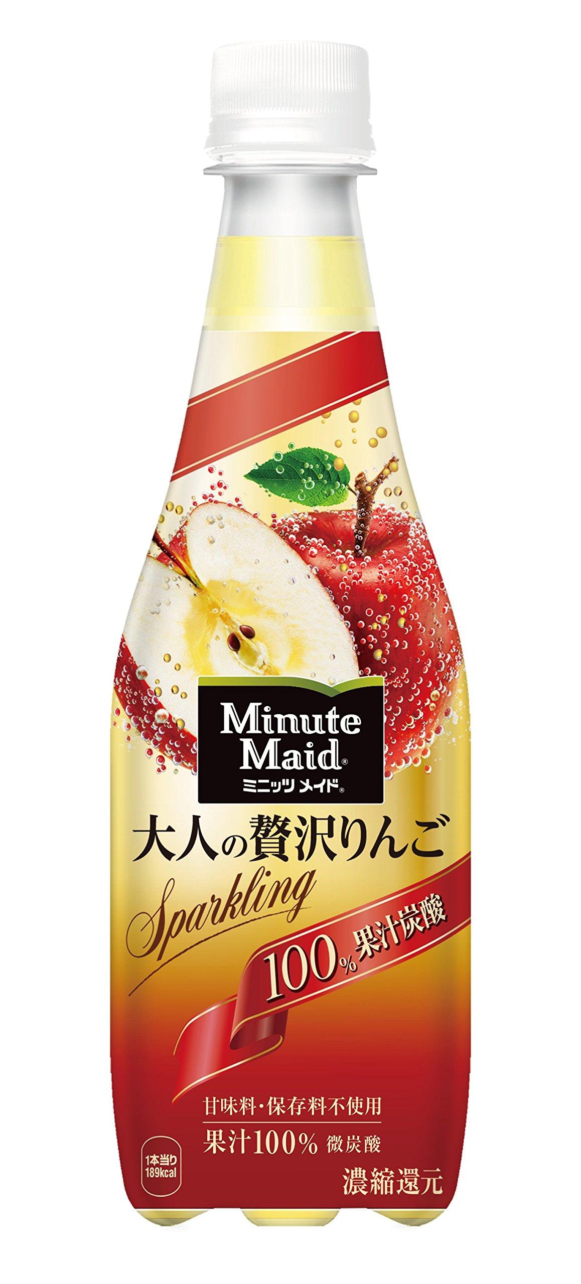 Coca-Cola Minute Maid adult luxury 100% fruit juice carbonate 410ml PETX24 this apple by Minute Maid (Image #1)