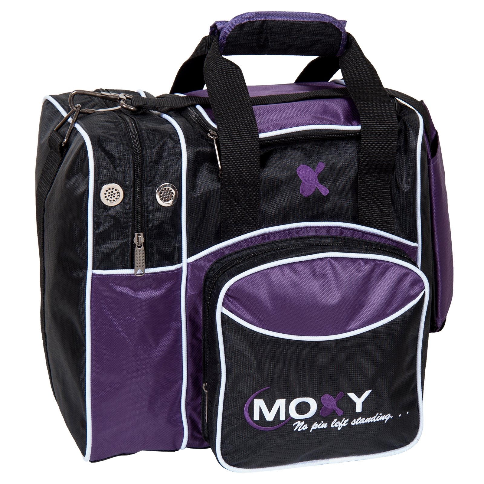Moxy Deluxe Single Tote Bowling Bag,Purple/Black by Moxy Bowling Products