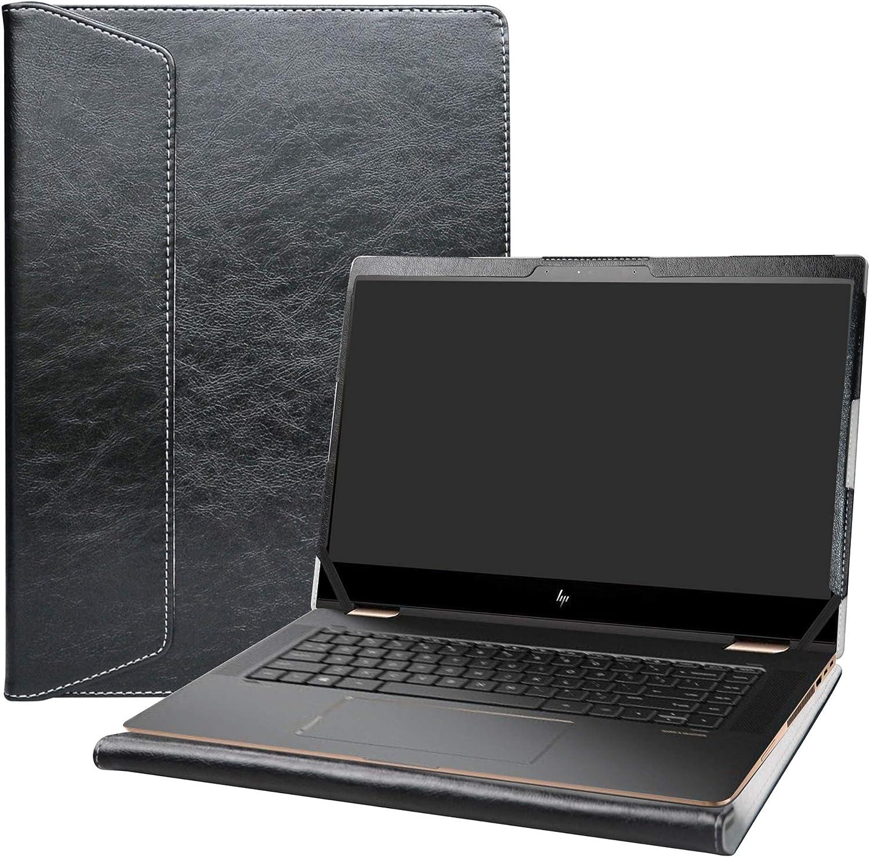 "Alapmk Protective Case Cover for 15.6"" HP Spectre x360 15 15-dfXXXX & Lenovo ideapad S145 15 S145-15IWL/IdeaPad 3 15IIL05/Lenovo V15 IKB Laptop[Note:Not fit Spectre X360 15-blXXX 15-chXXX],Black"