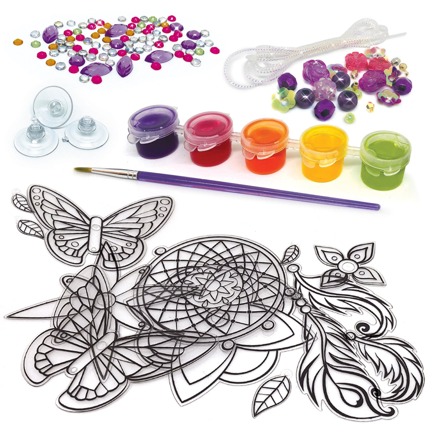 Colourful Nebulous Stars NS11017/Window Charms Craft