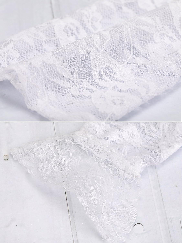 SATINIOR Ladies Lace Gloves Elegant Short Gloves Courtesy Summer Gloves for Wedding Dinner Parties