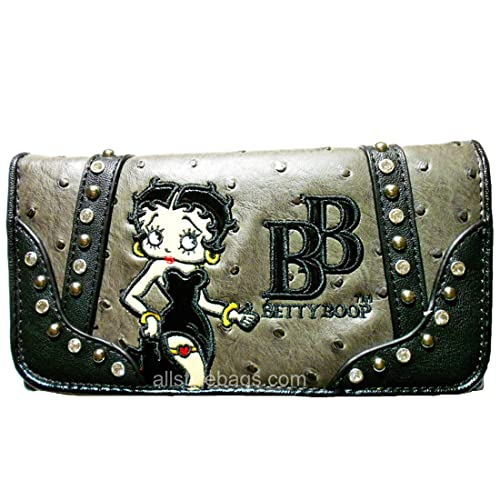 Betty Boop - Billetera en L para chequera, Costuras atrevidas ...