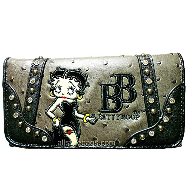 Betty Boop - Billetera en L para chequera, Costuras ...