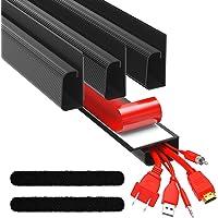 ProOffice J Channel Cable Raceway Kit - Computer Desk Cable Management System - 4x16'' Black Under Table Cable…