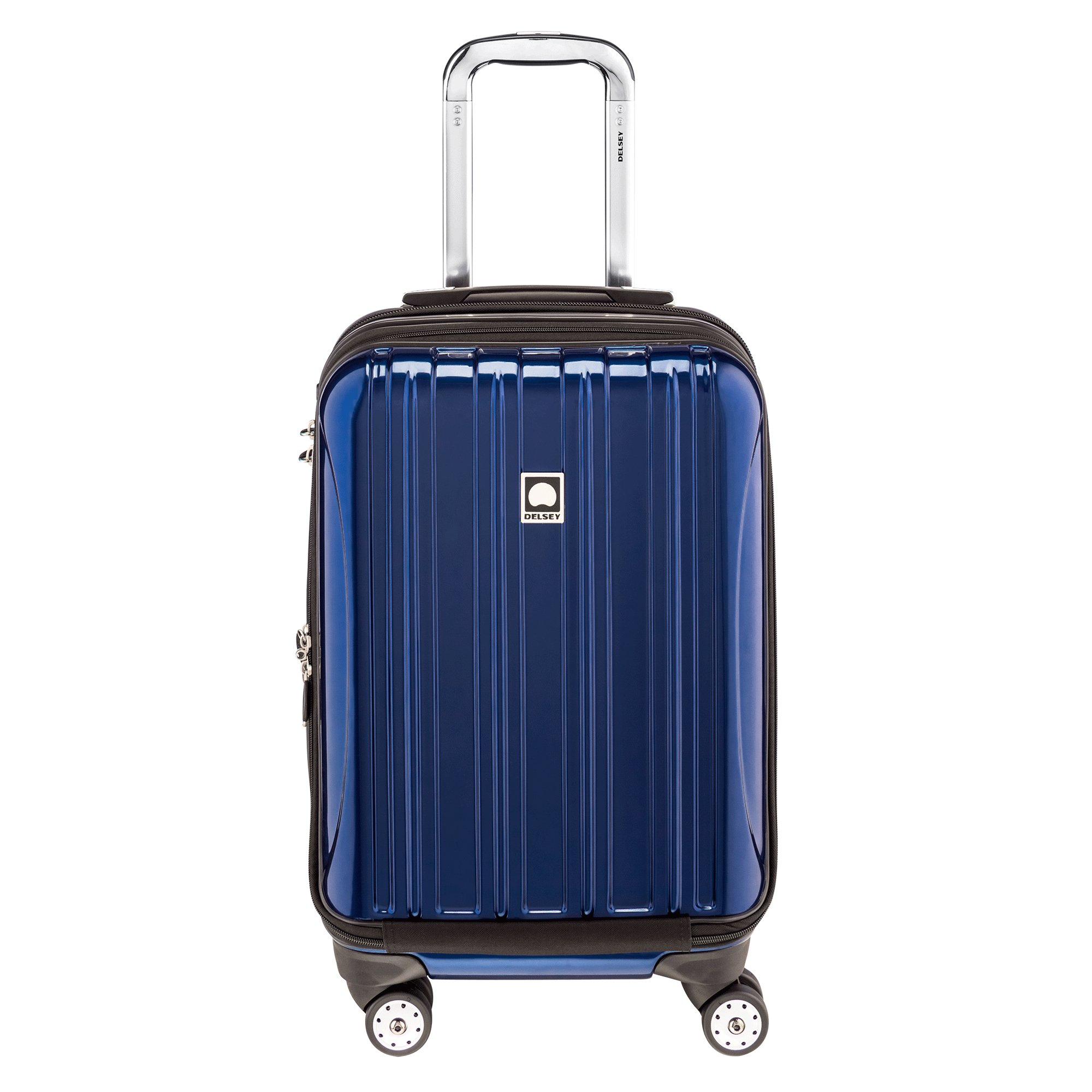 Delsey Luggage Helium Aero International Carry On Expandable Spinner Trolley, Cobalt Blue