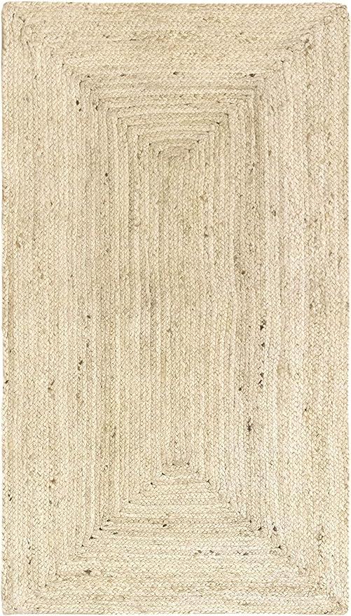 HAMID Alfombra Yute Alhambra Color Semi Blanco- Alfombra 100 ...
