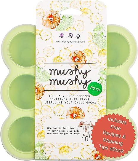 Envases para Alimentos de Bebés Mushy Mushy - 9 Envases Fácilmente ...
