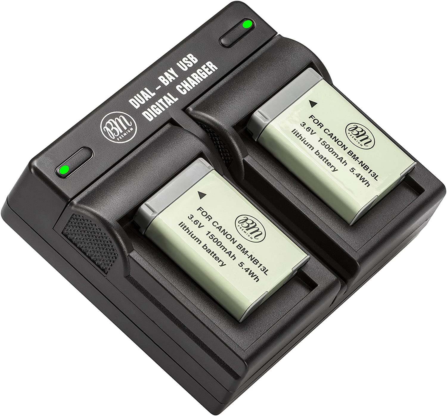 BM 2-Pack of NB-13L Batteries and Dual Battery Charger for Canon PowerShot SX740 HS, G1 X Mark III, G5 X, G5 X Mark II, G7 X, G7 X Mark II, G7 X Mark III, G9 X, G9 X Mark II, SX620 HS, SX720 HS Camera : Camera & Photo